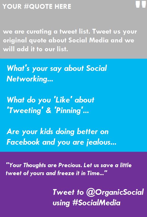 Tweet list about Social Media