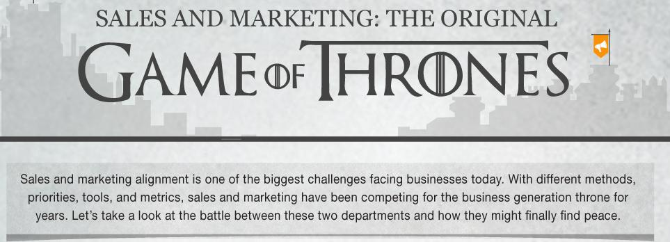 Sales and Marketing Game of Thrones